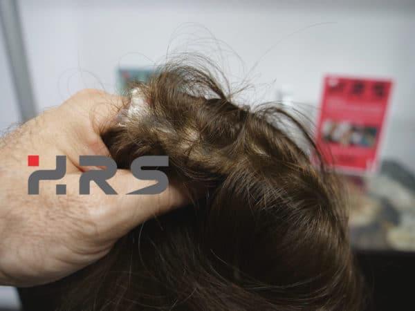 Protesi autoadesiva capelli color castano
