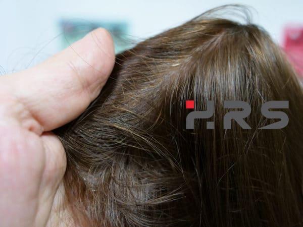 Protesi autoadesiva capelli castani